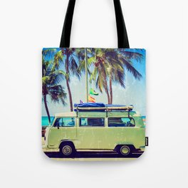Van, HQ quality — Surf, Beach Tote Bag