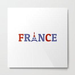 France Eiffel Tower Metal Print
