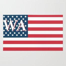 Washington American Flag Rug