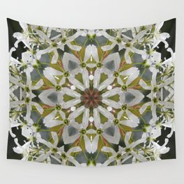 Lacy Serviceberry kaleidoscope - Amelanchier 0033 k5 Wall Tapestry