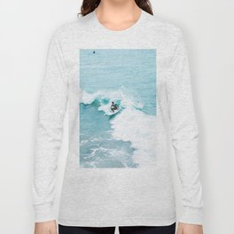Wave Surfer Turquoise Long Sleeve T-shirt