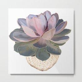 Kokedama Japanese Bonsai Home Decor  Metal Print