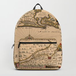 Map Of Bordeaux 1633 Backpack