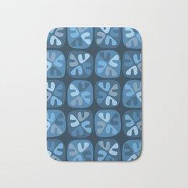 blue boomerangs Bath Mat