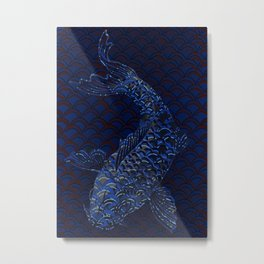 Fishscales Blue 3 Metal Print