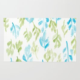 180726 Abstract Leaves Botanical 28 |Botanical Illustrations Rug