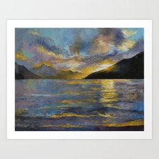 New Zealand Sunset Art Print