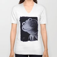 kermit V-neck T-shirts featuring KERMIT by John McGlynn