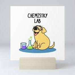 Chemistry Lab Cute Labrador Pun Mini Art Print