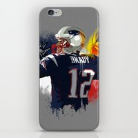 patriots iPhone & iPod Skins featuring Tom Brady by J Maldonado