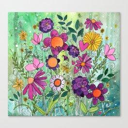 Purple Plum Parfait Canvas Print
