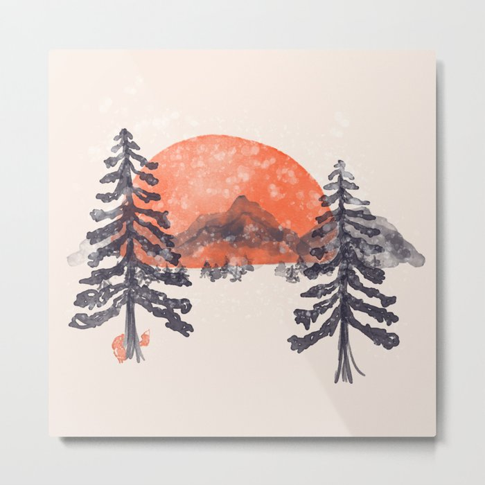 First Snow... Metal Print