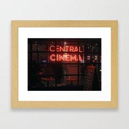 CENTRAL CINEMA Framed Art Print