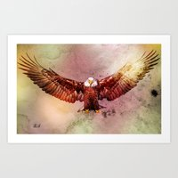 eagle Art Prints featuring Eagle by ron ashkenazi
