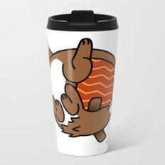Round Dog Metal Travel Mug