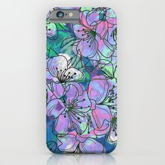 Little Purple Flowers iPhone 6 Slim Case