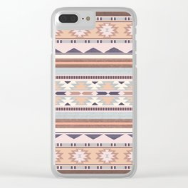 Blush South Western Pattern Clear iPhone Case