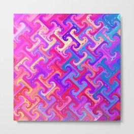 Tessellated Metal Print