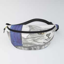 Cat From Santorini Fanny Pack
