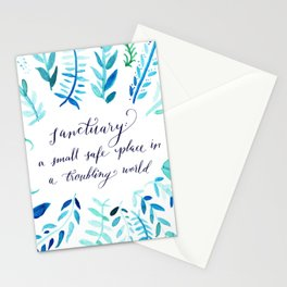 Sanctuary - Inspirational Quote Stationery Cards