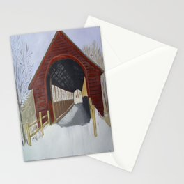 Covered bridge Stationery Cards