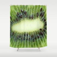 kiwi Shower Curtains featuring Kiwi by ThePhotoGuyDarren