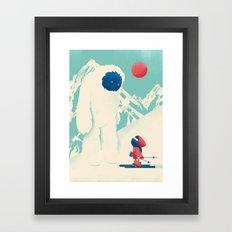 Encounter on the Bunny Slope Framed Art Print