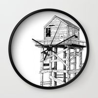 cabin Wall Clocks featuring cabin fever by PAFF