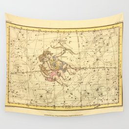 Vintage Gemini Constellation Map (1822) Wall Tapestry