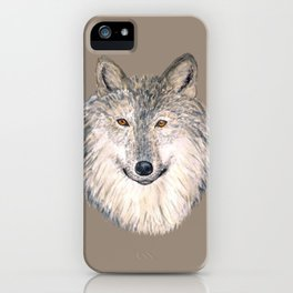 Grey Wolf iPhone Case