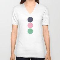 circles V-neck T-shirts featuring Circles by Alisa Galitsyna