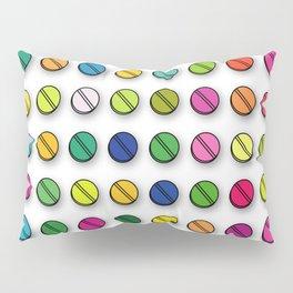 Colorful Pills Pattern Cool Modern Art Graphic Illustration Pillow Sham