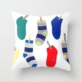 Colorful socks Throw Pillow
