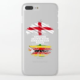 English Grown With Zimbabwean Roots Clear iPhone Case