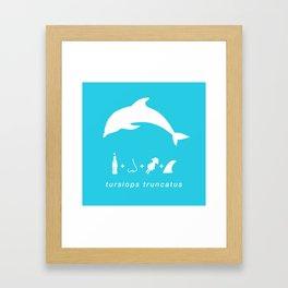 dolphin, bottlenose blue Framed Art Print