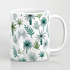 Tropical palm leaves minimal summer pattern print design by andrea lauren Mug