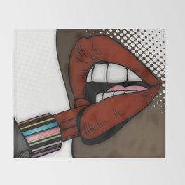 Loscious Lips & Lipstick Throw Blanket
