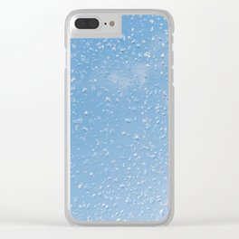 Melting snow drops blue sky Clear iPhone Case
