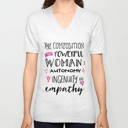 The Composition of Powerful Women Unisex V-Neck
