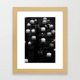 Candle Framed Art Print