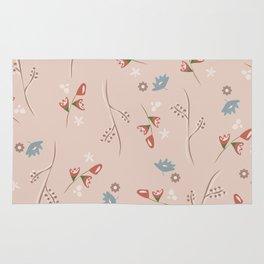 Delicate Floral Pattern Rug