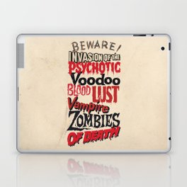 B Movie Beware Laptop & iPad Skin