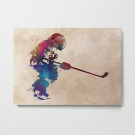 hockey player 2 #hockey #sport Metal Print