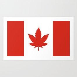 O Canada! (Hemp Flag) Art Print