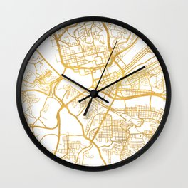 PITTSBURGH PENNSYLVANIA CITY STREET MAP ART Wall Clock