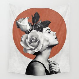 Beauty & Roses Wall Tapestry