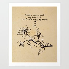 Sylvia Plath - I am Art Print
