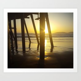 Pismo Beach Pier in the Sunset Art Print