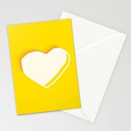 YELLOW HEART Stationery Cards
