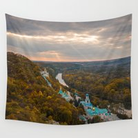 ukraine Wall Tapestries featuring Holy Mountains Monastery (Ukraine)  by Limitless Design